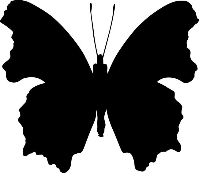 Как сделать трафареты бабочек своими