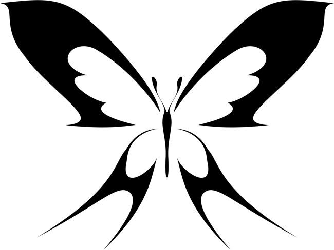 Как сделать трафарет бабочки 939