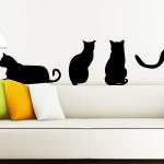 Трафарет кошки для декора