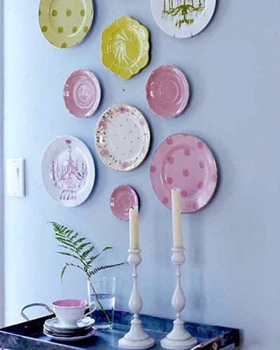 Как украсит тарелки своими