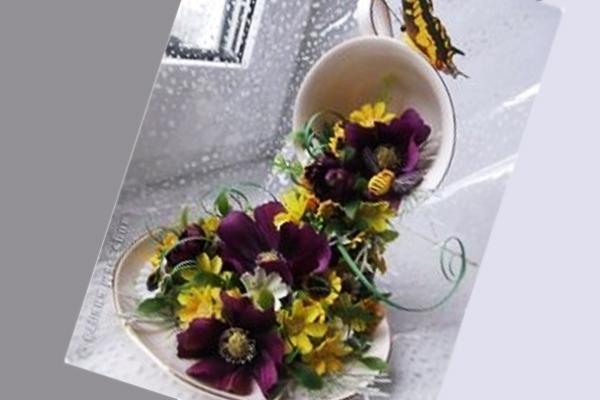 Как сделать цветочную чашку