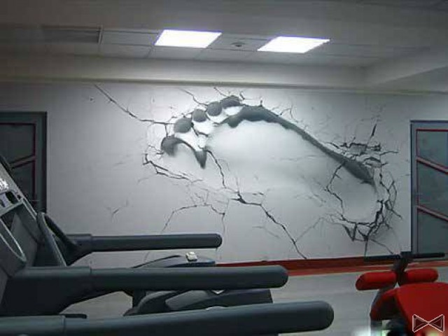 стену рисунки на кирпичную