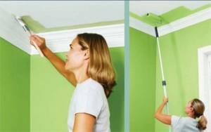 Как правильно производить окраску стен