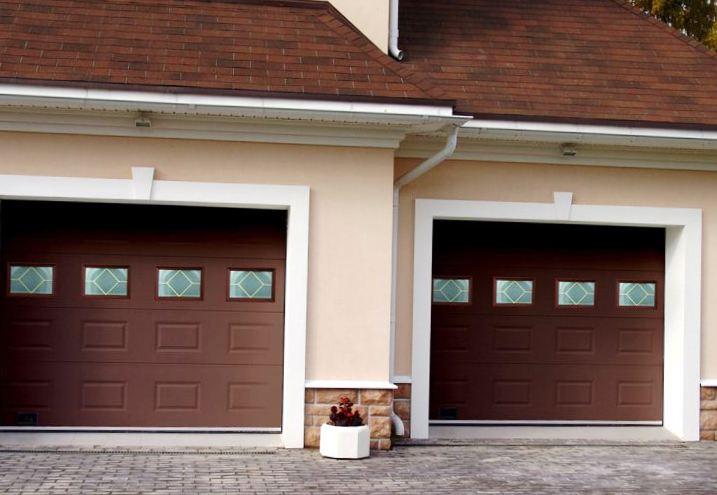 Автоматизированные секционные ворота для гаража